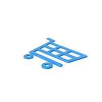 Blue Symbol Shopping Cart PNG & PSD Images