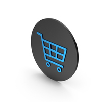 Shopping Cart Blue Icon PNG & PSD Images
