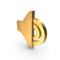 Low Sound Gold Icon PNG & PSD Images