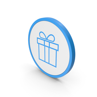 Icon Gift Blue PNG & PSD Images