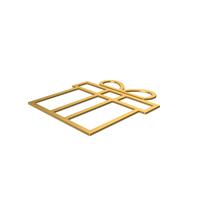 Gold Symbol Gift PNG & PSD Images