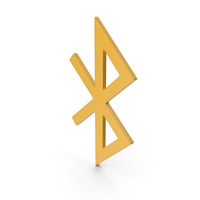 Bluetooth Yellow Icon PNG & PSD Images