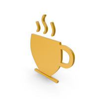 Coffee Cup Yellow Symbol PNG & PSD Images
