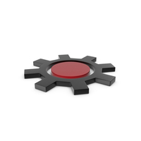 Gear Black and Red Icon PNG & PSD Images
