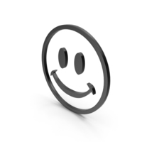 Happy Black Icon PNG & PSD Images