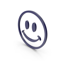 Happy Dark Blue Icon PNG & PSD Images
