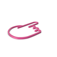 One Finger Pink Icon PNG & PSD Images