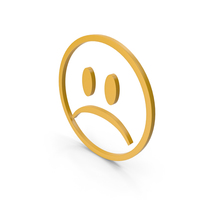 Unhappy Yellow Icon PNG & PSD Images