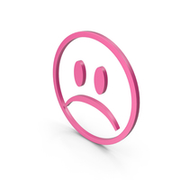 Unhappy Pink Icon PNG & PSD Images