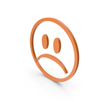 Unhappy Orange Icon PNG & PSD Images