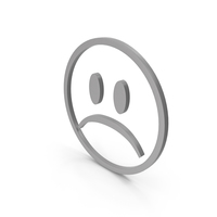Unhappy Grey Icon PNG & PSD Images