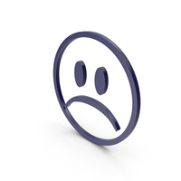 Unhappy Dark Blue Icon PNG & PSD Images