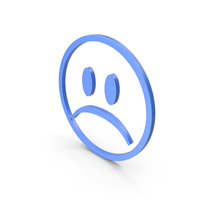 Unhappy Blue Icon PNG & PSD Images