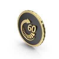 Logo Clock Time 60sec Gold PNG & PSD Images