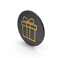 Gift Gold Icon PNG & PSD Images