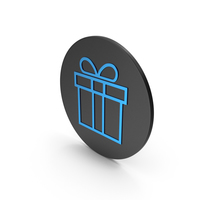 Gift Blue Icon PNG & PSD Images