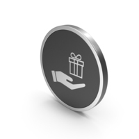 Silver Icon Hand Holding Gift PNG & PSD Images