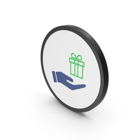 Icon Hand Holding Gift PNG & PSD Images