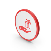 Icon Hand Holding Gift Red PNG & PSD Images
