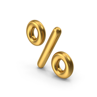 Percentage Symbol Gold PNG & PSD Images