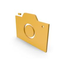 Camera Yellow Symbol PNG & PSD Images