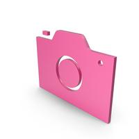 Camera Pink Symbol PNG & PSD Images