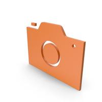 Camera Orange Symbol PNG & PSD Images