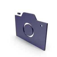 Camera Dark Blue Symbol PNG & PSD Images