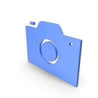Camera Blue Symbol PNG & PSD Images
