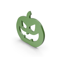 Jack o Lantern Green Icon PNG & PSD Images