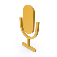 Microphone Yellow Icon PNG & PSD Images