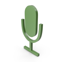 Microphone Green Icon PNG & PSD Images