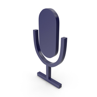 Microphone Dark Blue Icon PNG & PSD Images