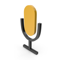 Microphone Black and Yellow Icon PNG & PSD Images