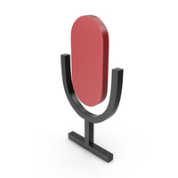 Microphone Black and Red Icon PNG & PSD Images