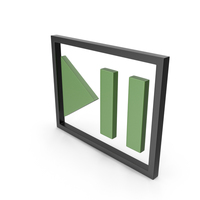Play Pause Button Black and Green PNG & PSD Images