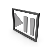 Play Pause Button Black and Grey PNG & PSD Images