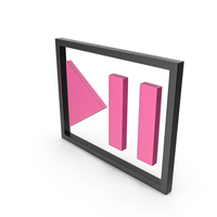 Play Pause Button Black and Pink PNG & PSD Images