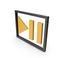 Play Pause Button Black and Yellow PNG & PSD Images