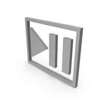 Play Pause Button Grey PNG & PSD Images