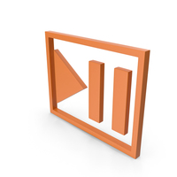 Play Pause Button Orange PNG & PSD Images