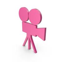 Video Camera Pink Symbol PNG & PSD Images