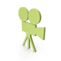Video Camera Green Symbol PNG & PSD Images