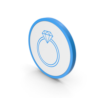 Icon Diamond Ring Blue PNG & PSD Images