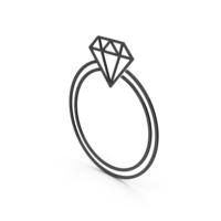 Symbol Diamond Ring Black PNG & PSD Images