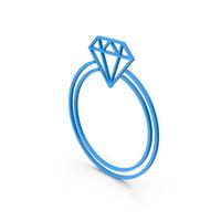 Symbol Diamond Ring Blue PNG & PSD Images
