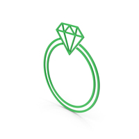 Symbol Diamond Ring Green PNG & PSD Images