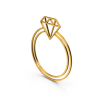 Symbol Diamond Ring Gold PNG & PSD Images
