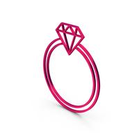 Symbol Diamond Ring Metallic PNG & PSD Images