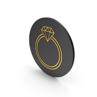 Diamond Ring Gold Icon PNG & PSD Images